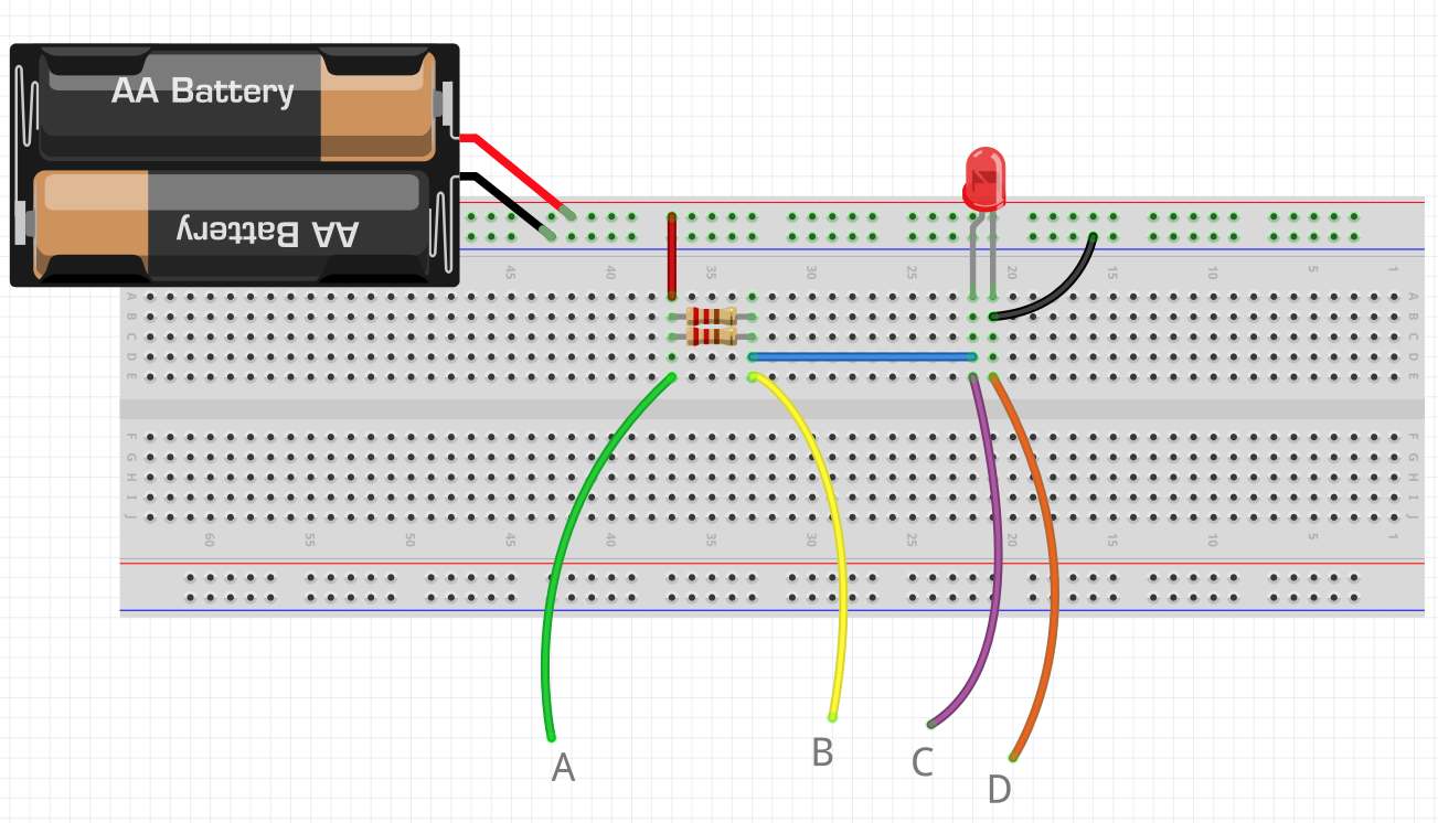 Craft Of Electronics Led Parallel Resistor Circuit Together With In Again Carry Out Questions Q1 Through Q6 Measuring Both Resistance And Amperage This